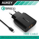 Toko Aukey Pa T16 Dual Quick Charge 3 Wall Charger Fast Charging Online Terpercaya