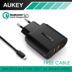 Jual Beli Aukey Pa T16 Dual Quick Charge 3 Wall Charger Fast Charging Di Dki Jakarta