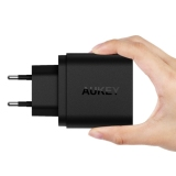 Cuci Gudang Aukey Pa T16 Usb Wall Charger With Dual Qualcomm Quick Charge 3