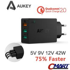 Aukey Pa T2 Quick Charge 2 Colokan Listrik 3 Port Usb Wall Charger Aukey Diskon