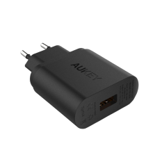 Cuci Gudang Aukey Pa U28 Usb Wall Charger 18W Qualcomm Quick Charge 2 Hitam