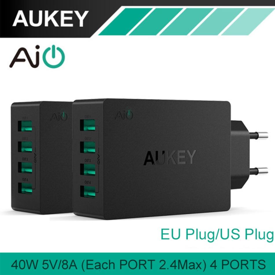 Aukey Pa U36 Multi Usb 40 W 8A Travel Wall Charger Adapter Dengan Plug Lipat Untuk Ios Dan Android Charger Eu Us Uk Plug Intl Tiongkok Diskon 50