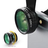 Aukey Pl A1 3 In 1 Mini Klip Pada Ponsel Kamera Optik Lensa Kit 180 Derajat Lensa Fisheye 110 Derajat Sudut Lebar 10 X Lensa Makro Untuk Ponsel Hitam Aukey Diskon 40