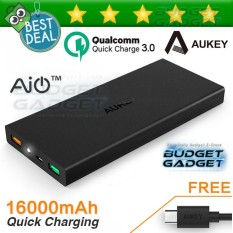 Aukey Power Bank 2 Port 2A 16000Mah Quick Charge 3.0 - PB-T9