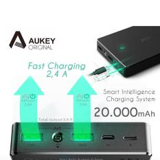 Review Terbaik Aukey Quick Charger Powerbank Power Bank 2 Port 2 4A 20000Mah Aipower