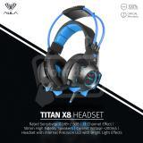 Aula Titan X8 Usb 7 1 Premium Gaming Headphone Bass With Micphone Biru Murah