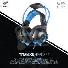 Review Aula Titan X8 Usb 7 1 Premium Gaming Headphone Bass With Micphone Biru