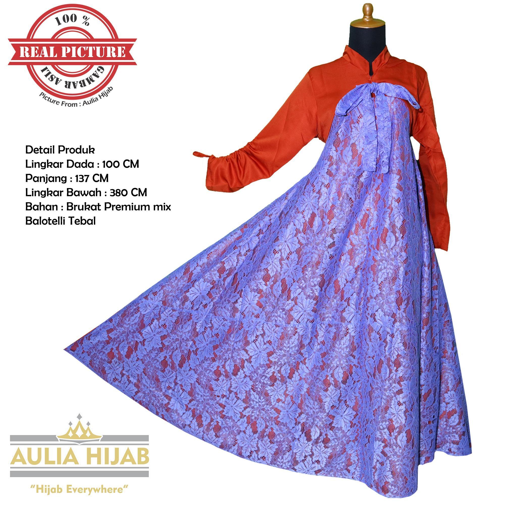 Promo Aulia Hijab Gamis Brukat Asli Alina Dress Bahan Brukat Gamis Pesta Gamis Kerja Gamis Kondangan Gamis Brukat Gamis Brokat Gamis Terbaru Gamis Real Picture Gamis Cantik Akhir Tahun