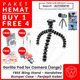 Review Tentang Authentic Gorilla Pod Flexible Tripod L Large For Slr Free Iring Stand Headset Earphone Bumper Case Bonus Penjepit Kabel Free Iring Stand Headset Earphone Bumper Case Bonus Penjepit Kabel