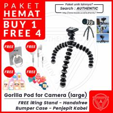 Promo Authentic Gorilla Pod Flexible Tripod L Large For Slr Free Iring Stand Headset Earphone Bumper Case Bonus Penjepit Kabel Free Iring Stand Headset Earphone Bumper Case Bonus Penjepit Kabel Di Dki Jakarta
