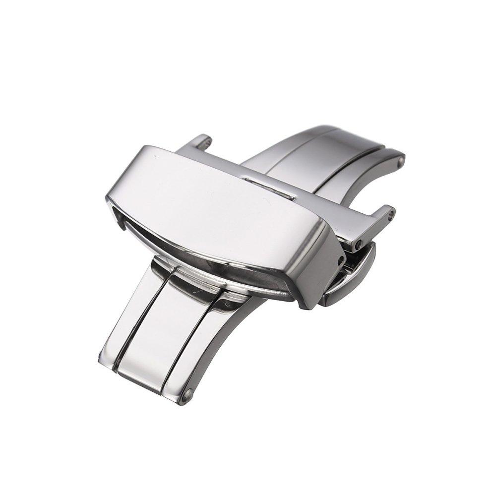 Toko Automatic Double Klik Butterfly Buckle Watch Push Button Fold Penyebaran Watchband Clasp Strap Gesper 22Mm Oem Di Tiongkok