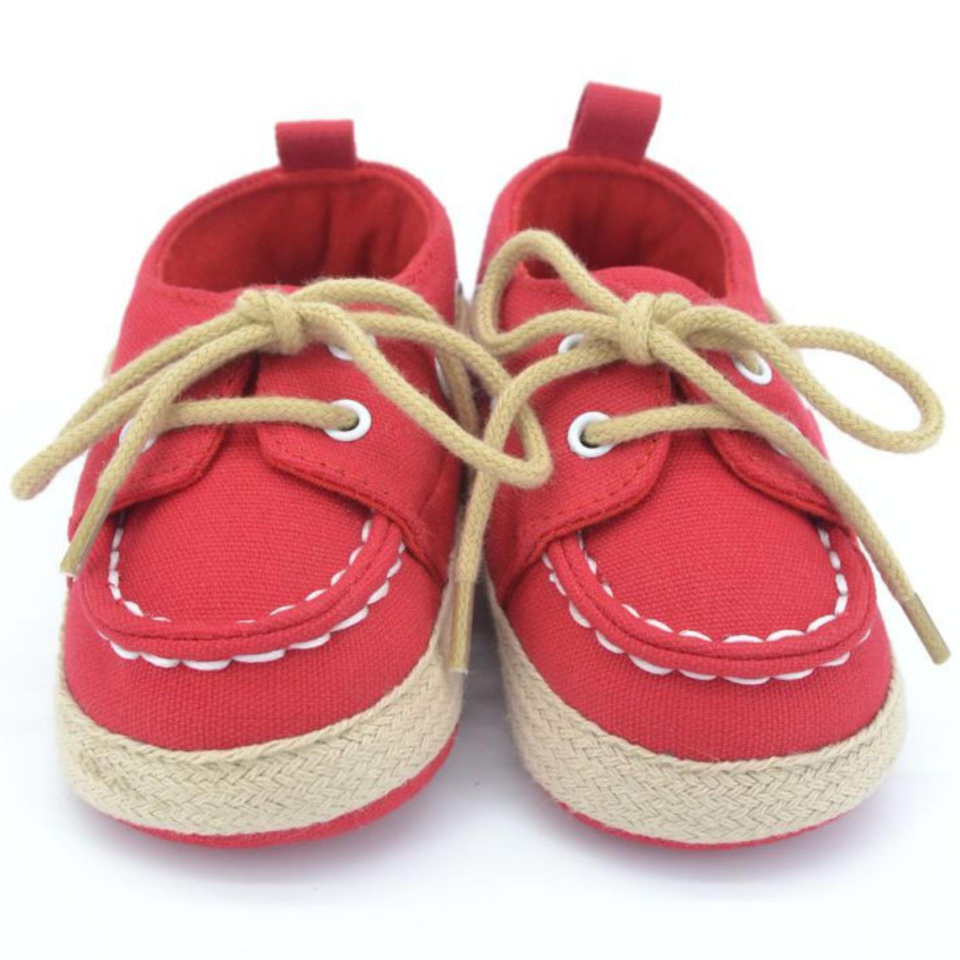 Ava Baby Prewalker Canvass Shoes Merah Sepatu Bayi Laki Laki Jawa Barat