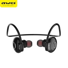 Harga Awei A845Bl Bluetooth V4 1 Noise Reduction Neckband Stereo Earphone Hitam Intl New