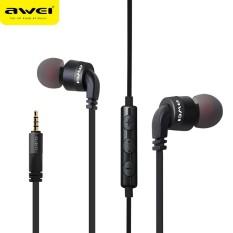 Awei ES-30TY Super Bass In-ear Headphone Mic Volume Control Earphone - intl