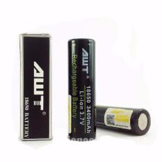 Diskon Awt Original Imr 3400 Mah 18650 Battery Baterai Vape Vapor Hitam
