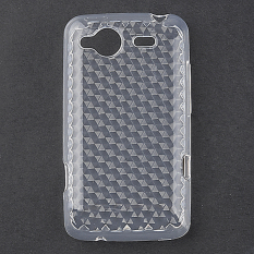 AZONE Anti-DUST Silicone GEL Anti-debu Kulit Case Cover untuk HTC Salsa G15 C5 10E Transparan- INTL