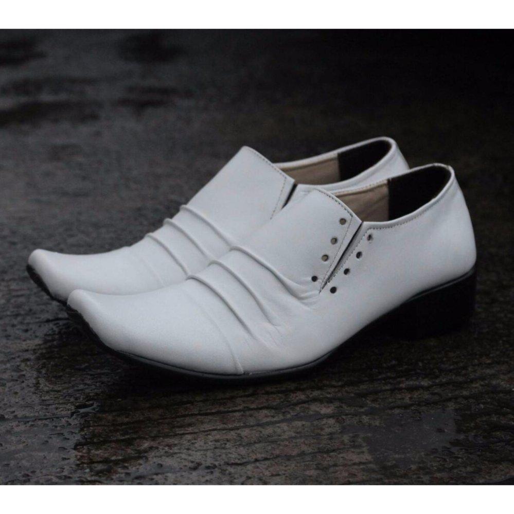 Toko B A E Weah Sepatu Pantofel Pria Formal Sepatu Kulit Asli Pria Pantofel Cevany Phelrem Putih Yang Bisa Kredit