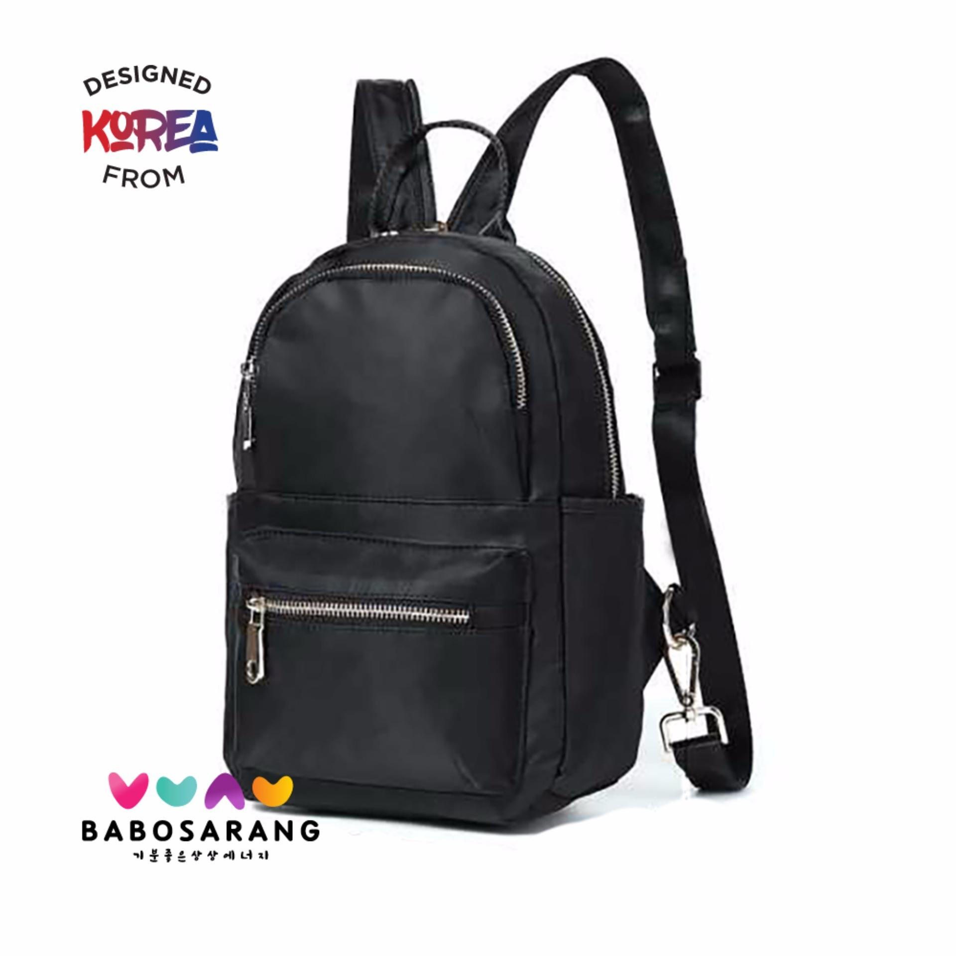 Promo Korean Fashion Style Babosarang Tas Ransel Batam Wanita Backpack Korea Model Fashion Gothic Style Bs2