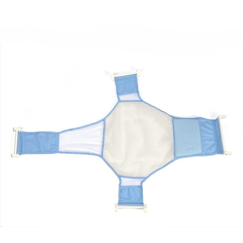 Review Baby Bath Bath Mandi Bersih Safety Bath Net Cross Anti Slip Net Stent Biru Di Tiongkok
