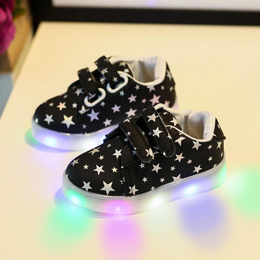 Iklan Baby Fashion Sneakers Led Luminous Anak Balita Kasual Warna Warni Lampu Sepatu