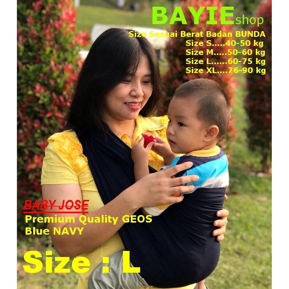 BABY JOSE Premium Q GENDONGAN BAYI Kaos size 'L' / Geos / Selendang Bayi / Perlengkapan Bayi - BAYIE