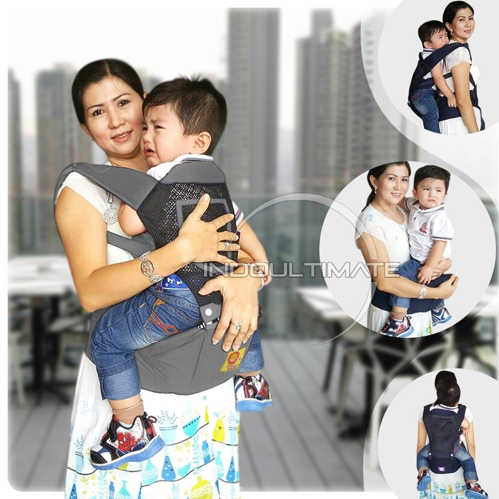 Harga Baby Leon Gendongan Bayi Cotton With Hip Seat 5 In 1 Baby Carrier By 43 Gb Gray Ultimate Online