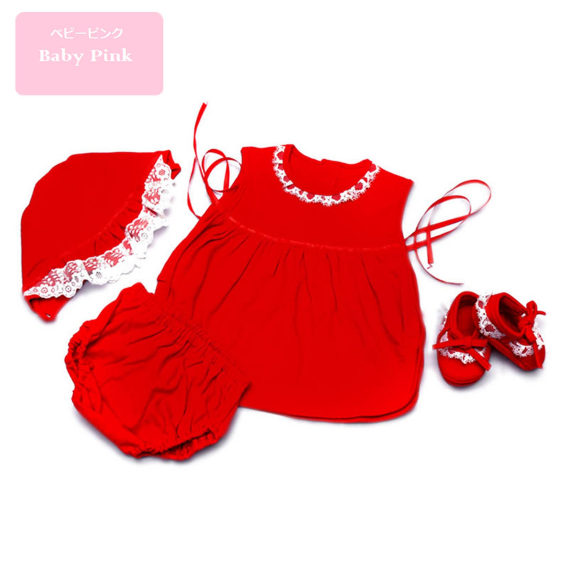 Toko Baby Pink Newborn Babydoll Set Red Online Di Sulawesi Selatan