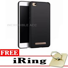 Baby Skin Soft Babby Skin Softase Silicon Matte Ultra Slim for Xiaomi Redmi 5A - Black + Free iRing