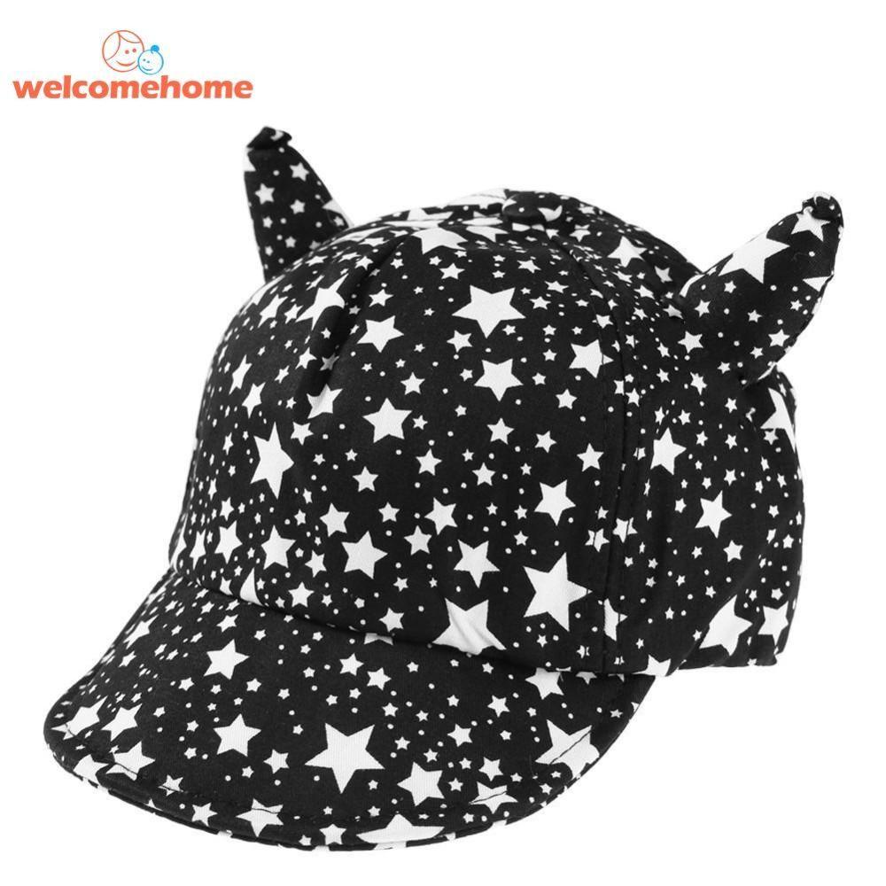 Bayi Musim Panas Cetak Bintang Adjustable Lembut Topi Pantai Topi Tanduk  Topi Bisbol-Intl 2376f3e565