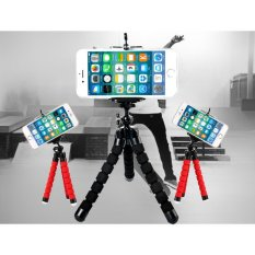 Baby Talk Tripod Flexible Octopus Bracket With Holder Stand Mount for Gopro Camera/SLR /DV Mini Camera Handphone - Tripod Murah Tripod Flexible Penyangga HP Mini Busa Fleksibel Stan Kaki Gurita Tumpuan Kaki Tiga - WARNA RANDOM