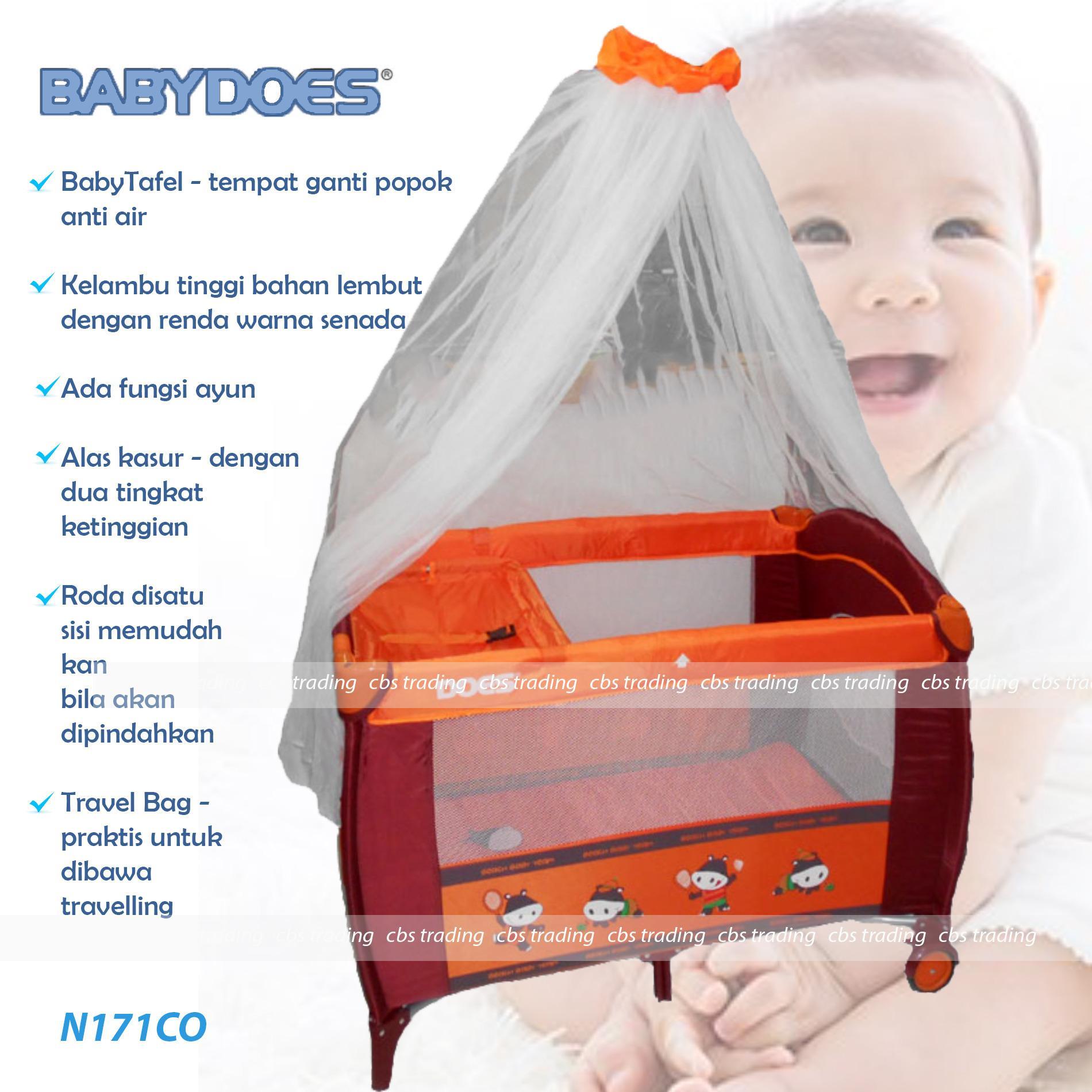 Obral Babydoes Baby Box N171 Box Bayi Does 171 Ranjang Bayi Coklat Murah