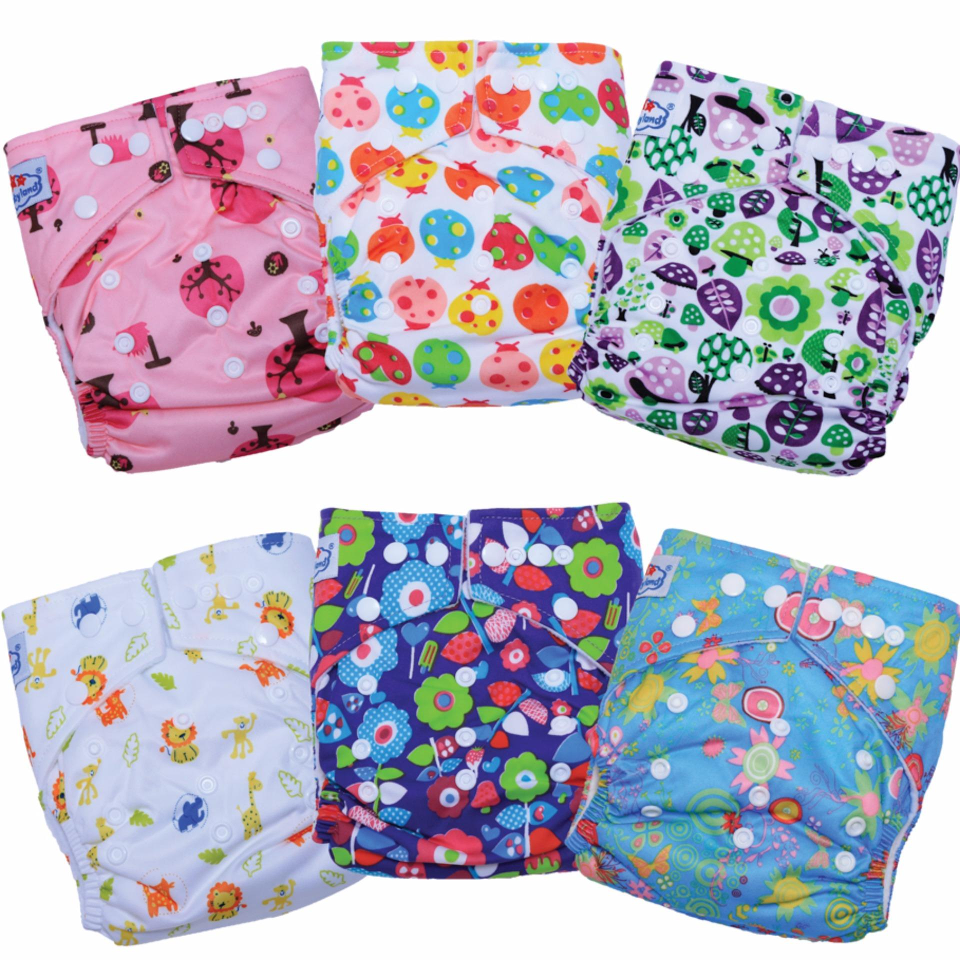 Diskon Babyland Super Package 6 Pcs Clodi Babyland Pocket With 12 Insert Microfiber 3 Ply For Baby G*rl