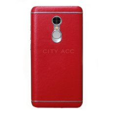 Back Case For Redmi Note 4 Leather – Red