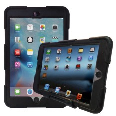 Back Case iPad 2 / 3 / 4 With Kickstand Retina Display Case Tough Armor - Hitam