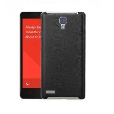 Back Case Leather For Xiaomi Redmi Note Hitam Murah