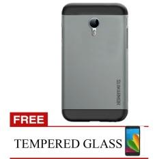 Back Case Meizu M2 Note Hardcase Slim Armor - Abu-abu + Bonus Tempered Glass