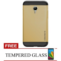 Iklan Back Case Meizu M2 Note Slim Armor Case Gold Gratis Tempered Glass