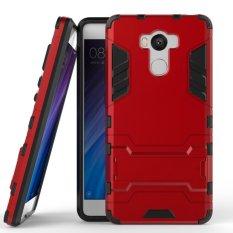 Back Case Xiaomi Redmi 4 Prime / Xiaomi Redmi 4 Iron Man Slim Armor With Kick Stand - Merah