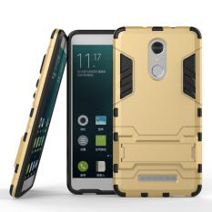 Back Case Xiaomi Redmi Note 3 Pro Iron Man Kick Stand Series  - Gold