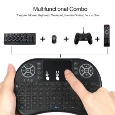 Cuci Gudang Backlit 2 4Ghz Wireless Keyboard Air Mouse Touchpad Handheld Remote Control Backlight For Android Tv Box Pc Smart Tv Black Intl