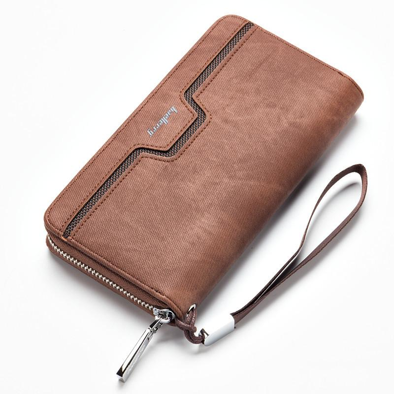 Beli Baellerry Fashion Men S Hand Bag Leather Wallet Long Section Zipper Purse Business Casual Youth Hand Bag Brown Intl Online Terpercaya