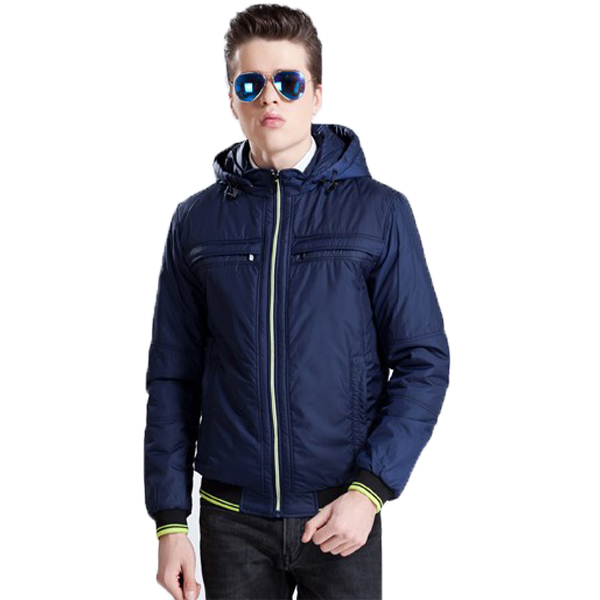 Spesifikasi Bafash New Men Casual Jacket Zipper Pocket Detachable Navy Dan Harganya