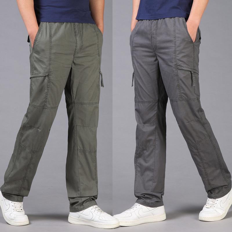 Harga Bagian Tipis Pria Celana Kasual Abu Abu Gelap Celana Pria Celana Panjang Pria Celana Chino Celana Cargo Baru
