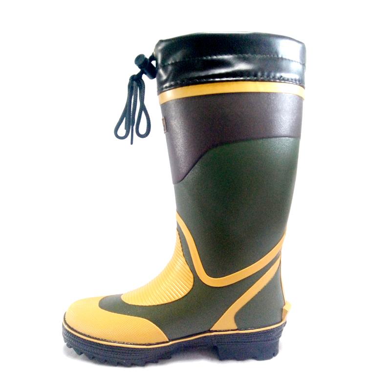 Baja Gesper Non-slip Jepang Musim Semi Sepatu Bot Hujan (Hijau Tentara Warna)
