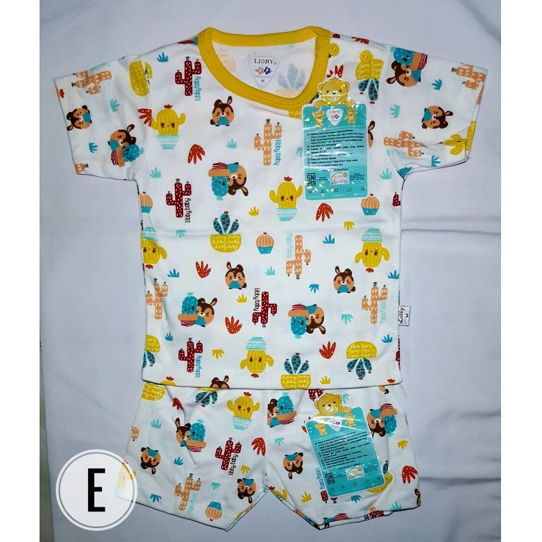 Baju Bayi Setelan Pendek Libby ukuran M 6-9 bulan