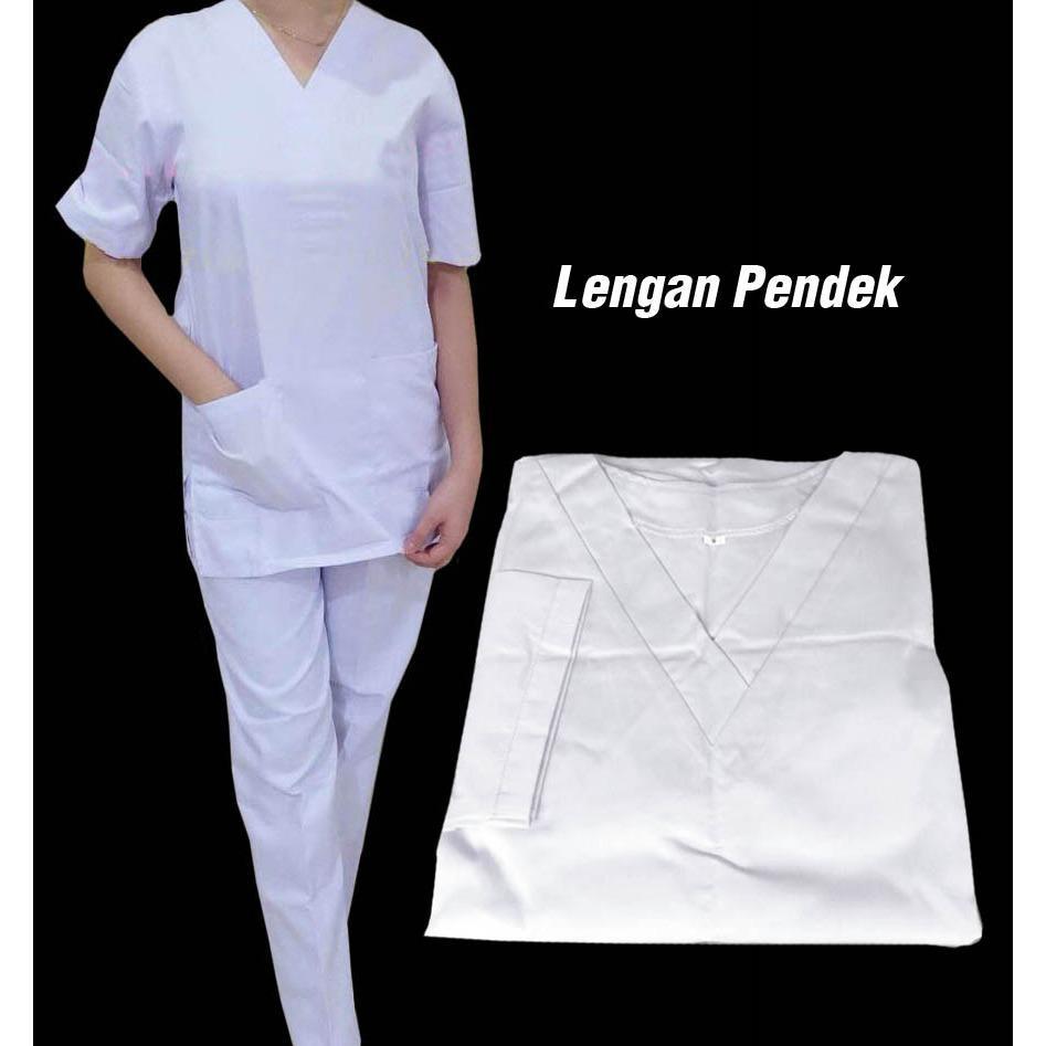 Baju Dokter / Baju Jaga / Baju Oka Lengan Pendek