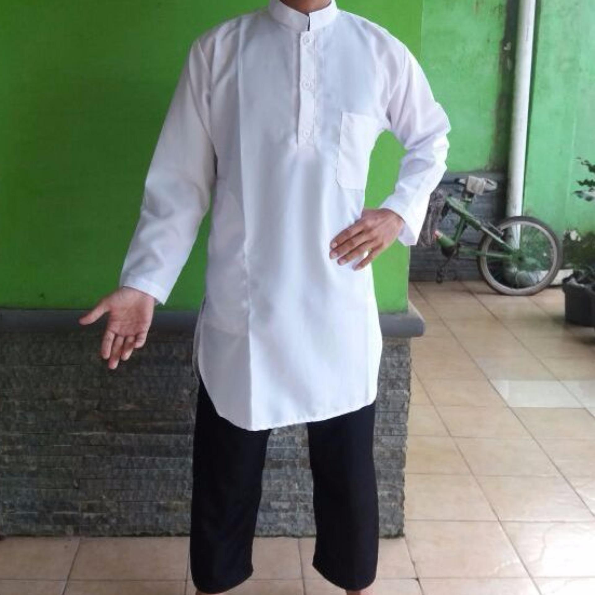Baju Gamis Putih Polos Gamis Pria Gamis Pakistan Muslim Wear Murah Di Jawa Barat