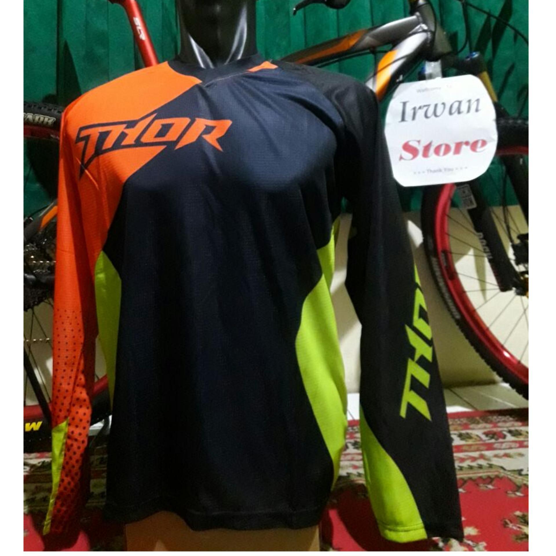 Kualitas Baju Jersey Sepeda Downhill Motocross Thor Jersey