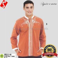 Baju Muslim Pria/Baju Koko Katun Paris Orange SPS111-04 Murah  #NAME