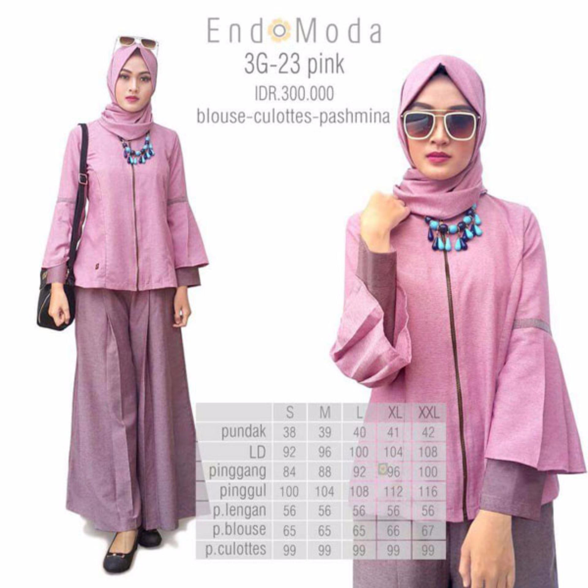 Harga Baju Original Endo Moda 3G 23 Setelanwanita Baju Muslim Modern Gamis Katun Supernova Premium Warnapink Paling Murah